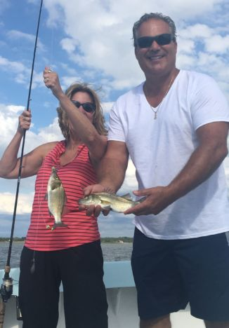 Couple with catch